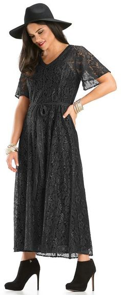 Dress: rayon/nylon lace with cotton terry voile cami
