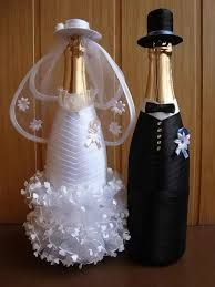 Картинки по запросу бутылка жених и невеста мастер класс