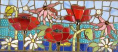 Floral Explosion 1/12  by Anja Hertle  Maplestone Gallery  Contemporary Mosaic Art