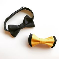 Custom black and yellow boys bow ties. Lime Hippo creates dapper, stylish and downright cool clothing for children. Use the code PINTEREST for 10% off in our shop.