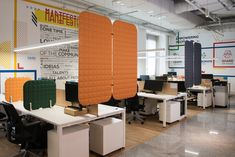 Both VicOffice Desk Lat and Suspended Dividers can help divide workstations and promote better acoustics. Productivity In The Workplace, News Space, Acoustic Panels, Desk, Architecture, Modern, Table, Workspaces, Furniture