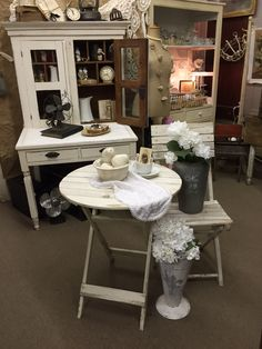 Cozy front porch shabby bistro table.