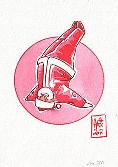 Encres : Capoeira de l'avent - 182 [ #capoeira #ink #painting ]