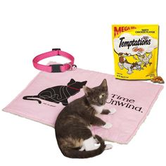 Amazon.com : Pamper Your Kitty with a Pink Cat Bed, Treats & Pink Breakaway Collar Bundle : Pet Supplies