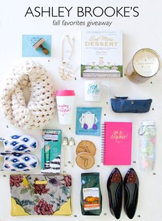 Ashley Brooke's Fall Favorites Giveaway!! // Enter for your chance to win ALL of this fabulous, fancy giveaway loot! #ABDfavethingsgiveaway