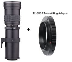 96.01$  Buy here - http://ali3h7.shopchina.info/go.php?t=32676341876 - Lightdow 420-800mm F/8.3-16 Super Telephoto Lens Manual Zoom Lens +T2 Adaper Ring for Canon  DSLR Cameras EF EF-S Mount Lens  #bestbuy