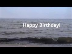 Happy Birthday Greeting Card Video With Sea Waves