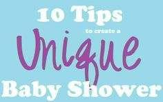 10 Tips for Planning a Unique Baby Shower Party