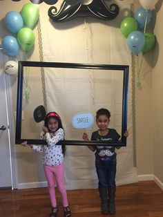 DIY Little man photo booth