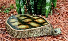 Natural Oak tree slice Turtle sculpture - Art - Sculptures - Wood sculpture by JTLCREATIONS, $165.00 USD