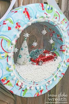 Create your own Snow Globe Wreath that will have you wishing for a winter wonderland!