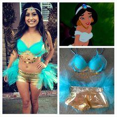 Princess Jasmine Aladdin Costume Rave Outfit by BelleBandz on Etsy