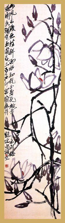 Gardenia flowers, ink painting by Qi Baishi Zen Painting, Japan Painting, Chinese Painting, Painting Prints, Paintings, Rune Symbols, Calligraphy Ink, China Art, Magnolias