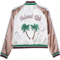 HILFIGER COLLECTION Bomber Island Life // Embroidered bomber jacket