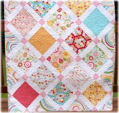 Baby Girl Quilt Simply Sweet via Etsy