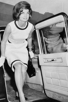 June 7, 1962.  Jackie Kennedy arriving at the Hospital of Physical Medicine to visit her father-in-law, Joseph Kennedy.
