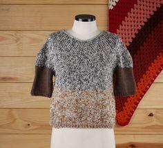 blusa ponta cabeça - blusas elô bertô tricô