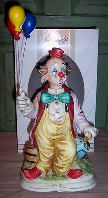 Vintage Melody in Motion Balloon Clown Hand Painted Porcelain by Waco | eBay
