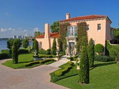 Lakefront Mediterranean, Palm Beach FL Single Family Home
