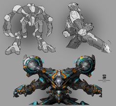 Mechs by psdeluxe on deviantART