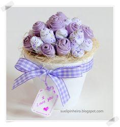 Rositas de tela flores en tela