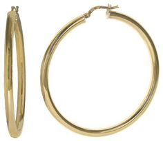 14k Yellow Gold Italian Polished 3 mm Tube 50 mm Hoop Earrings Amazon Curated Collection. $334.00. Made in Italy. Save 58%!