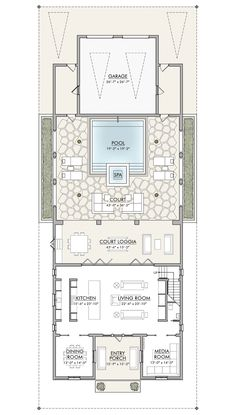 Resort Villa, Dream House Plans, Master Plan, Beach Resorts, Floor Plans, Flooring, How To Plan, Room, Two Story Houses