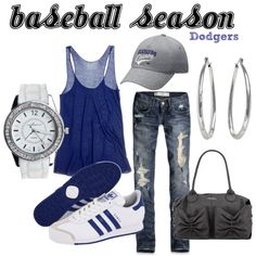 Perfect baseball outfit :) (for anyone BUT the dodgers. I hate them) - not my caption, but it's still perfect! Just with chicks instead. Dodgers Outfit, Dodgers Girl, Dodgers Baseball, Teen Girl Outfits, Sport Outfits, Cute Outfits, Burgundy Outfit, Sport Fashion, Womens Fashion