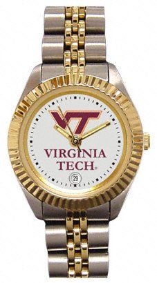 Virginia Tech Hokies Women's Watch, Executive Series by SunTime. $174.99. The ultimate fans statement! This beautiful watch features a date function, 23-kt gold plated and stainless steel two-toned bezel, case and bracelet with a safety clasp. This Product Makes a Great Holiday Gift!