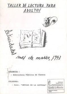 """Taller de Lectura de la Biblioteca Pública de Cuenca """"Fermín Caballero"""" Actividades para el mes de marzo 1993 Encuentro con Almudena Grandes #Cuenca #Libros #AnimacionLectura #TallerLecturaBibliotecaPublicaCuencaFerminCaballero"""