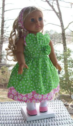 Sundress and Headband for 18 inch doll or American by ASewSewShop