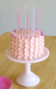 Classic pink birthday cake that will impress any little girl!