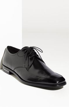 Prada High Shine Apron Toe Oxford (Men) available at #Nordstrom