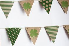 Party Decorations - Irish Bunting / Garland / Photography Prop  by MakeItMerryShop