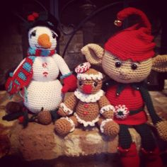Crocheted Christmas Snuggle Buddies @memawscountrycrafts - etsy
