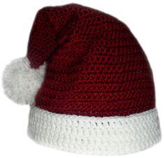 Santa Claus Hat 5 sizes PDF Crochet by CrochetSpotPatterns Crochet Santa Hat, Crochet Cap, Crochet Hook Sizes, Crochet Beanie, Crochet Hooks, Crocheted Hats, Free Crochet, Christmas Crochet Patterns, Holiday Crochet
