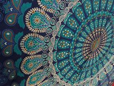 Tapestry Wall Hanging Mandala Tapestries Indian Cotton Bedspread Blue Theme Picnic Blanket Wall Art Hippie Tapestry By Rajrang -- ** AMAZON BEST BUY **