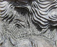 "Képtalálat a következőre: topographic map vector"" Sarah King, Artistic Installation, Map Vector, Abstract Sculpture, Mask Design, Word Art, Hand Lettering, Graphic Design, Hannah Quinlivan"