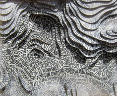 3d typographic contour map  sarah king  via sarahaking.com