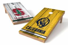 Stanford Cardinals/ California Golden Bears Rivals Cornhole Board Set