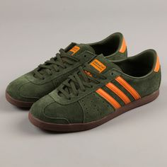 hot sale online 05dcb 92c3d Adidas Immotile Trainers - Olive Light Orange Gum £51.95 Zapatillas Nike De  Descuento