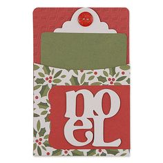 This little Library Pocket and Card #3 is perfect to adhere a gift card to with a glue dot or to write a little note on as an enclosure.