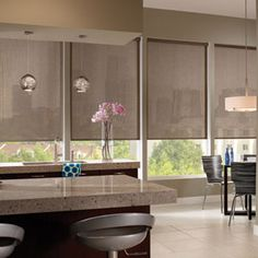 Solar Shades & Blinds for Windows Living Room Blinds, House Blinds, Blinds For Windows, Curtains With Blinds, Window Blinds, Privacy Blinds, Shutter Blinds, Bay Windows, Window Shutters