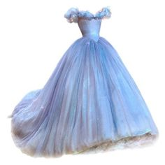 satinee.polyvore.com Cinderella gown ❤ liked on Polyvore featuring dresses, gowns, evening gown, blue ball gown, blue evening gown, blue dress, blue gown and blue evening dresses