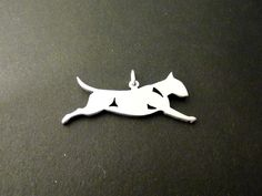 sterling silver English Bull terrier pendant Designed by Marianne Felix, £44.99