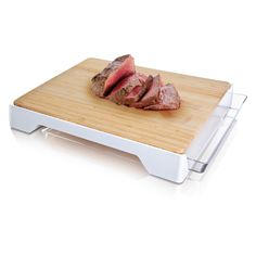 Tomorrows Kitchen Bamboo Cutting Board and Sliding Tray - 4685260