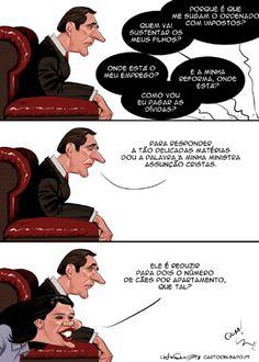 Cartoon: Mentes brilhantes - Ironia d'Estado