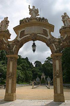 Entrance of the Mermaid's Garden Coimbra  Portugal