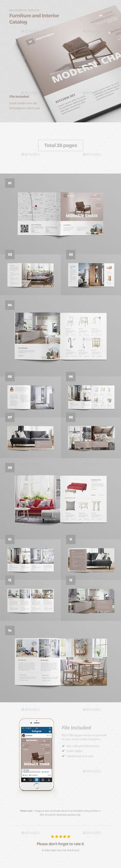Buy Furniture and Interior Catalog by ariodsgn on GraphicRiver. This is a clean and stylish furniture and interior catalog template that makes it possible for you to design any kin. Web Design, Website Design, Layout Design, Design Shop, Editorial Layout, Editorial Design, Layout Inspiration, Graphic Design Inspiration, Brochure Layout