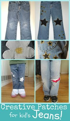 Creative and easy patches for kid's jeans